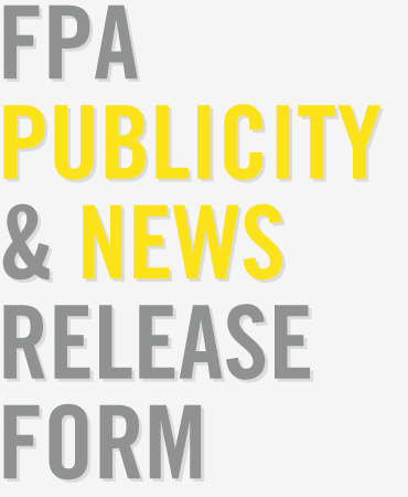 FPA Publicity and News Release Form