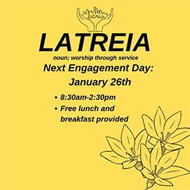 Latreia Engagement Day poster
