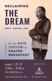 Reclaiming the Dream, prayer breakfast poster