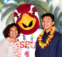 An SPU Student and his mom