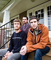 Graduate students (from right) John Harrell,  Kenny Solberg, and Patrick Tomaschke