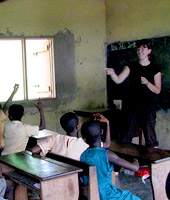 2009 SPU graduate Amy NcNair teaching in Ghana during Summer 2008.