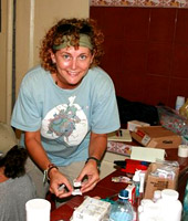 Kristi Layton, 1997 SPU alumna, at a pharmacy/lab in Georgetown, Guyana.