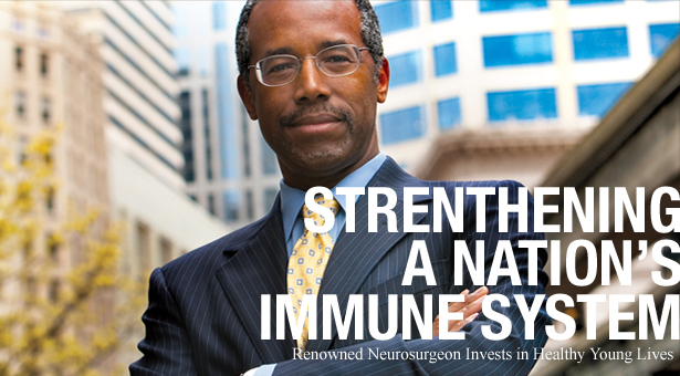 Strengthening a Nations Immune System - Renowned Neurosurgeon Invests in Healthy Young Lives