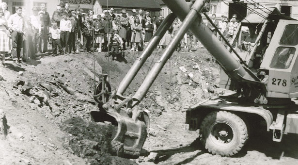 The groundbreaking for Royal Brougham Pavilion, held in 1951