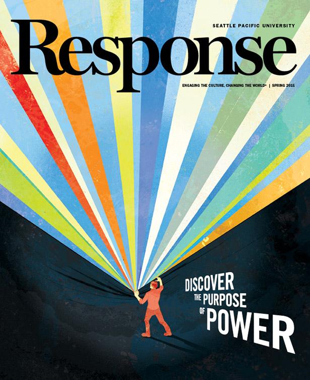 School Magazine Book Cover Design : Front cover art response seattle pacific university