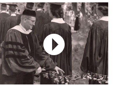 "An Ivy Cutting scene from ""Video: Celebrating 125 Years at SPU"" on Youtube"