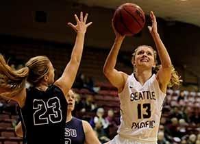 Falcon women's basketball player Jordan McPhee