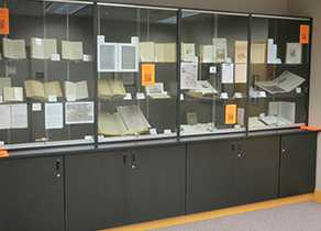 Library display: Special Collections Exhibit 2016