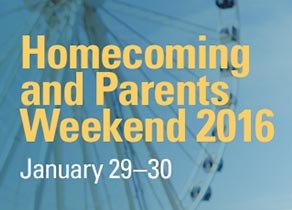 Homecoming and Parents Weekend 2016, January 29 to 30