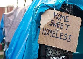 Homelessness, tent city