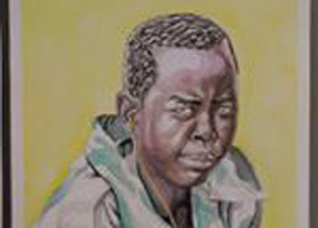 Illustration of African American boy by Greg Shaw