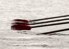 Oars in water