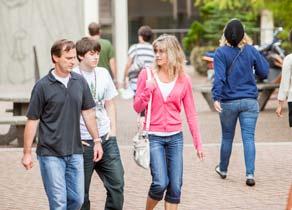 Students visiting campus