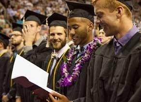 Graduates at Commencement 2015