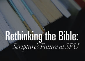 Books with text, Rethinking the Bible