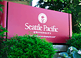 Photo: SPU sign on campus