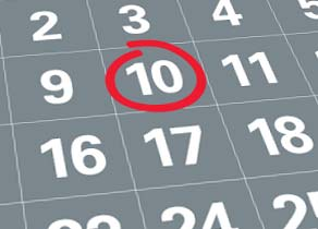 10th of the month
