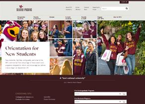 SPU Website Hompage