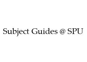 Subject Guides at SPU Logo