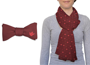 Scarf and Bowtie with SPU Logo