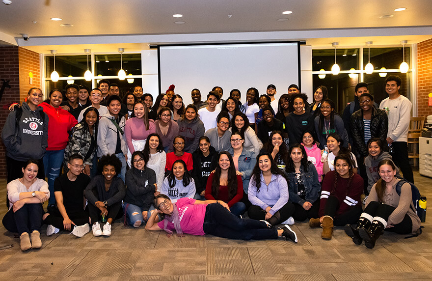 SPU students at the 2018 Multi Ethnic Dinner