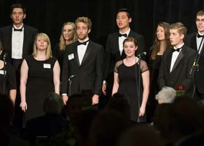 The choir performing at SPU's Downtown Business Breakfast