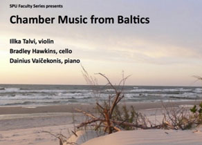Beach with text Chamber Music from Baltics