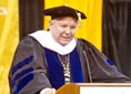 President Eaton giving his last commencement address