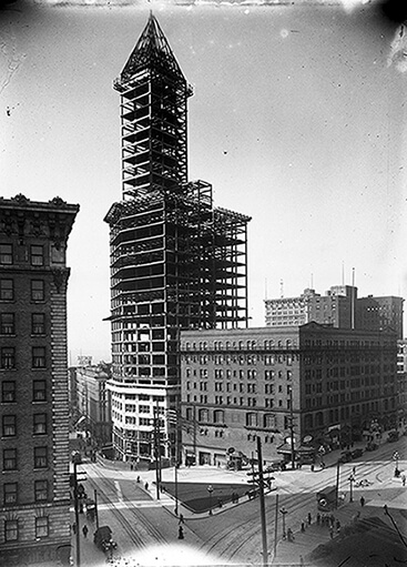 Smith Tower Under Construction