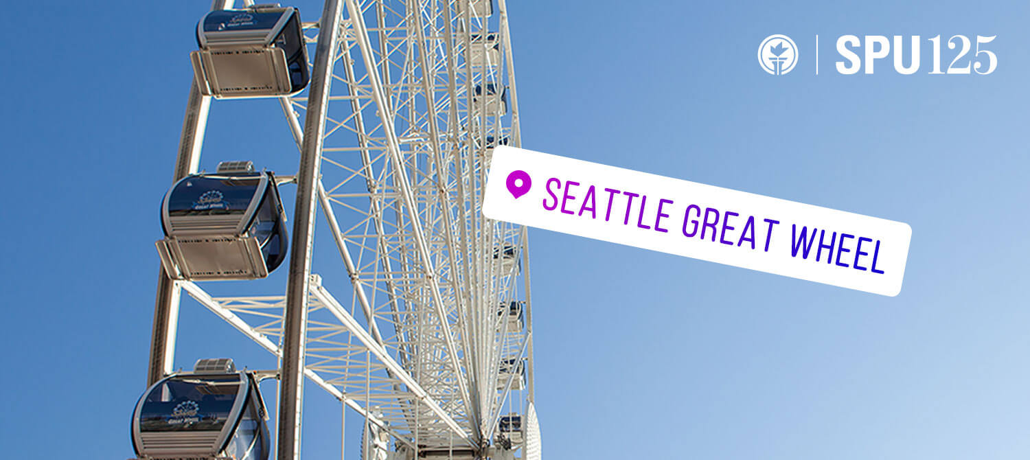 Image of the Seattle great wheel and a location graph
