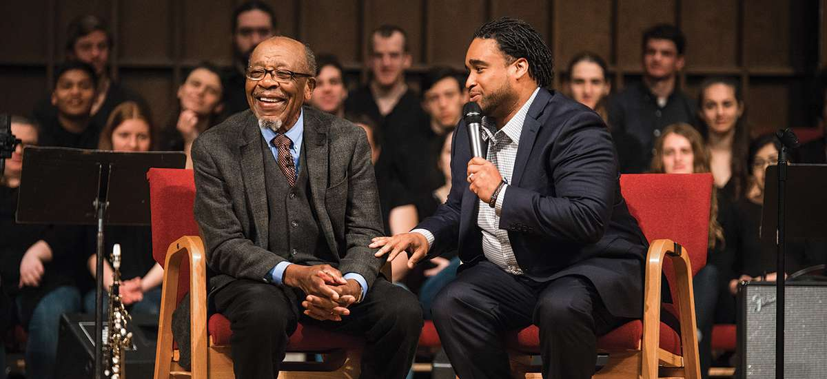 John M. Perkins visits campus