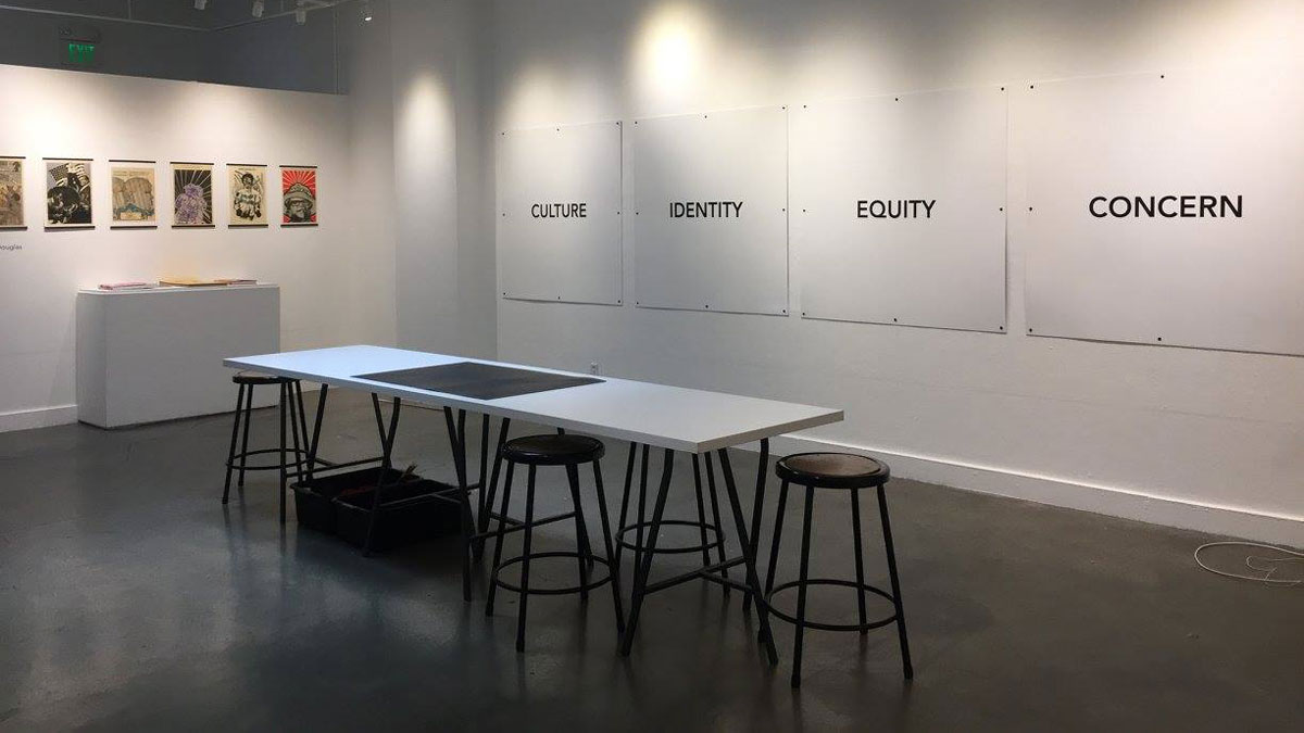 Social Justice met art at a fall campus design exhibit