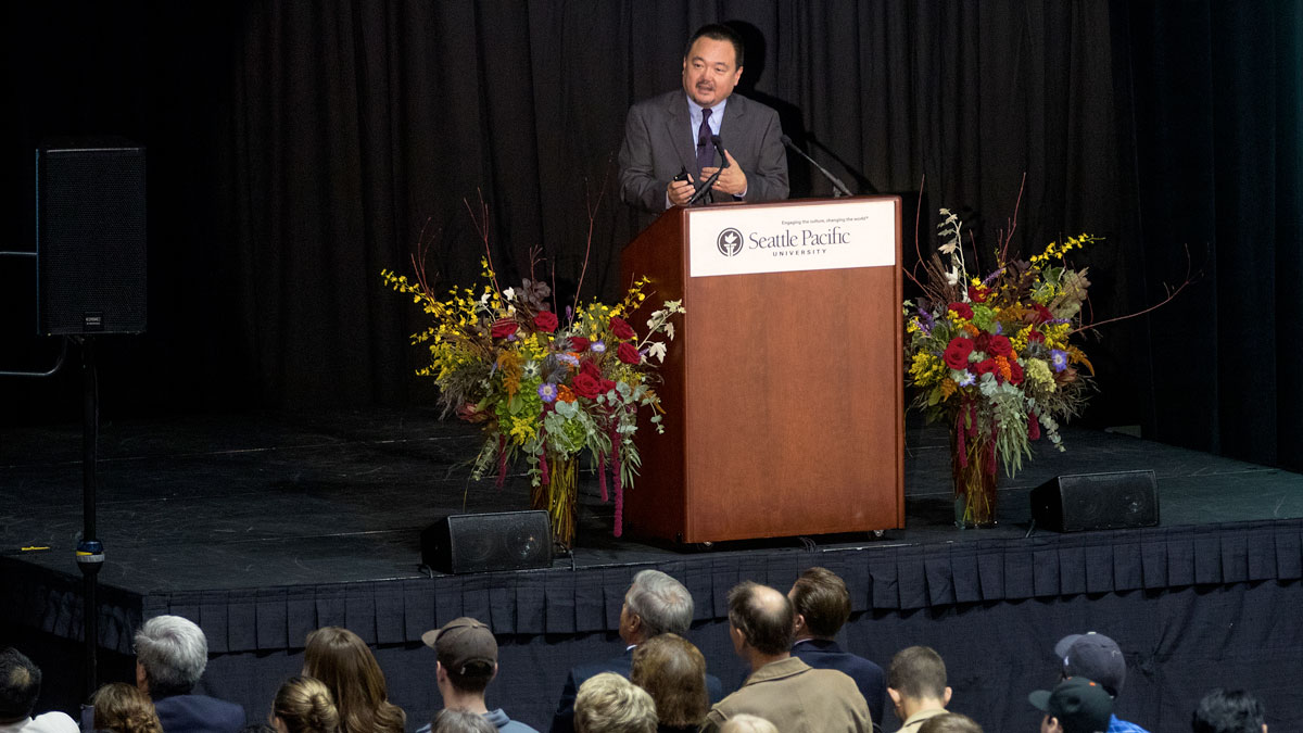 Soong-Chan Rah spoke at SPU's Day of Common Learning.