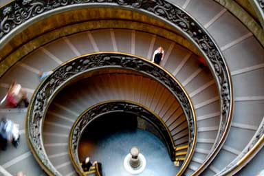 Staircase in Rome, Italy