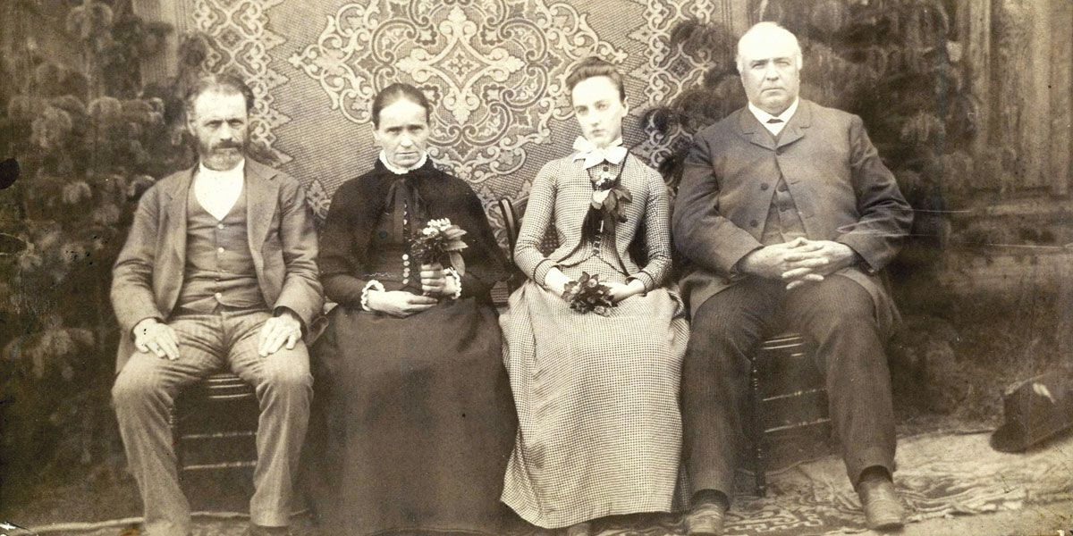 Group of historical figures taken with old camera