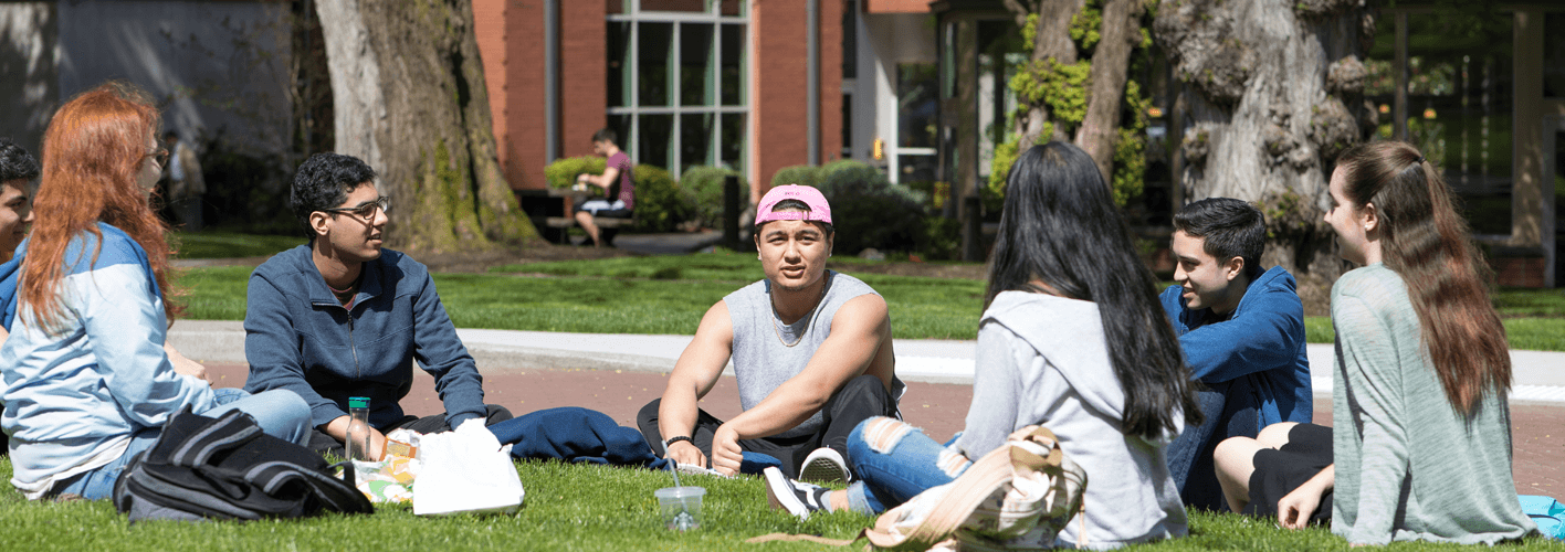 SPU students in Tiffany Loop