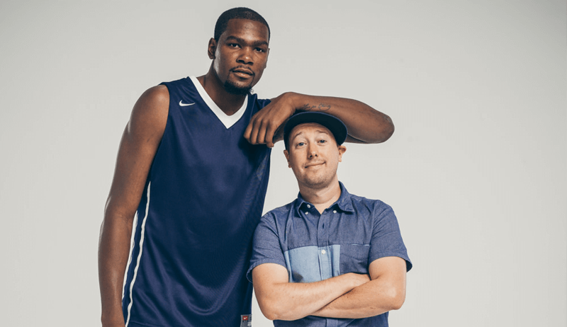 John Keatley and Kevin Durant