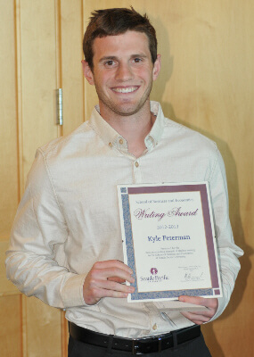 2013 SBGE Writing Award Winner Kyle Peterman