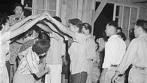 Dancing at an internment camp