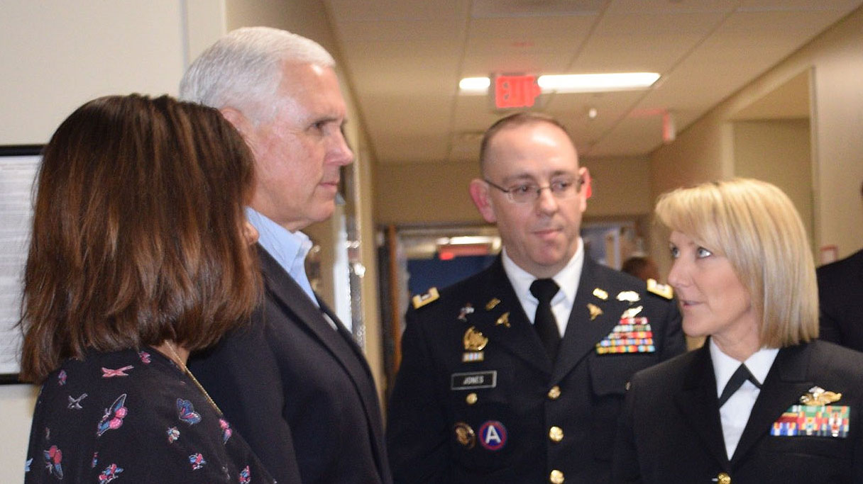 Amy White with Vice President Mike Pence and his wife, Karen