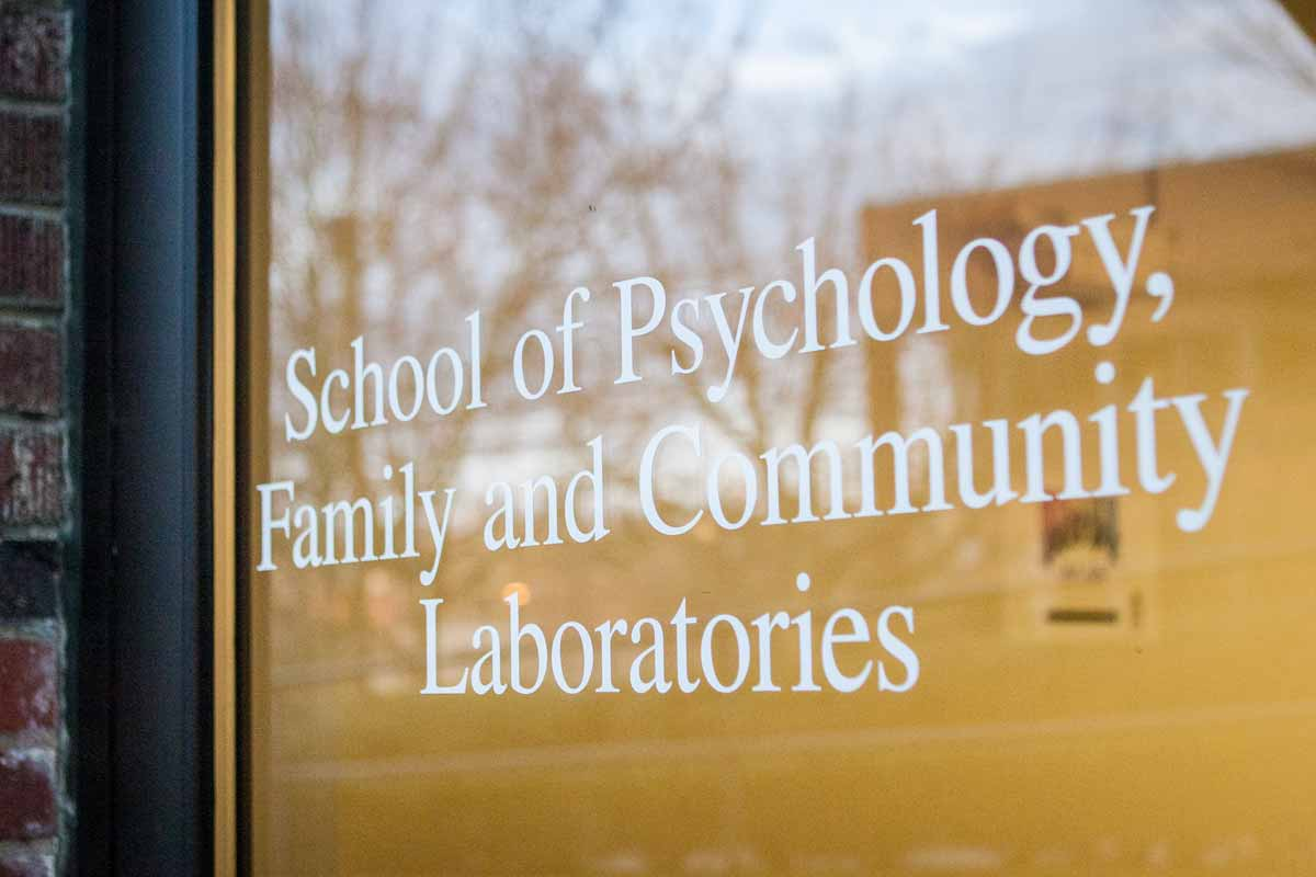 School of Psychology, Family, and Community Laboratories doorway