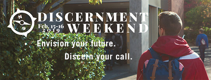 An SPU student attending the Discernment Weekend at Seattle Pacific University