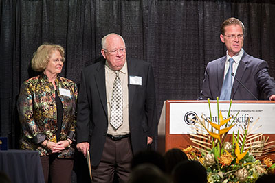 The Teel Family receive the 2013 President's Award for Philanthropy