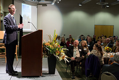SPU President Dan Martin addresses the audience at the 2013 President's Circle Dinner
