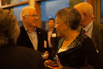 Guests mingle at the 2015 SPU President's Circle Dinner