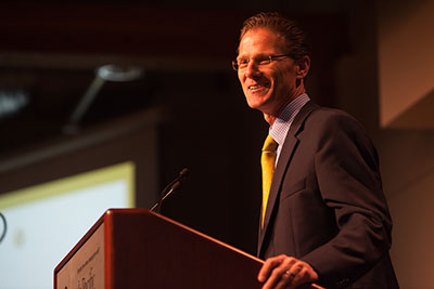 SPU President Dan Martin speaks at the 2015 President's Circle Dinner