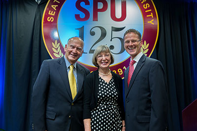 SPU President Dan Martin with 2016 President's Award for Philanthropy winners