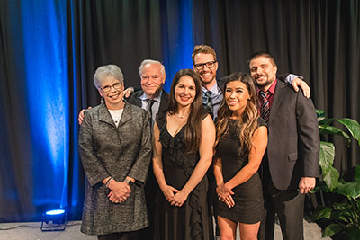 President's Award for Philanthropy winners Dennis and Beth Weibling and family