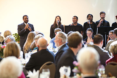 The SPU Gospel Choir performs at the Spring 2011 President's Circle Dinner